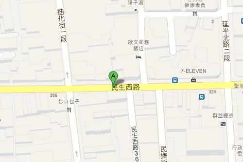 民生西路地図
