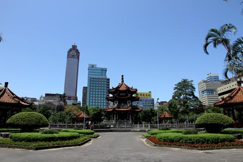 中国式古典亭閣と涼亭