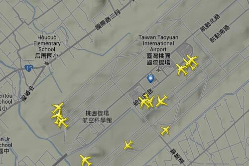 飛行機リアルタイム軌跡